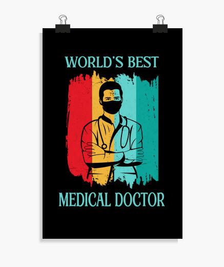 Poster miglior medico medico del mondo