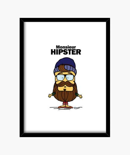 Cuadro Monsieur Hipster