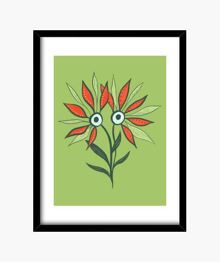 Cadre monstre mignon fleur drôle