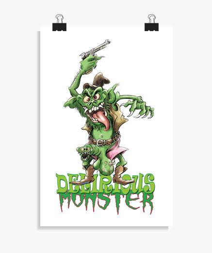 Poster Monstre rigolo