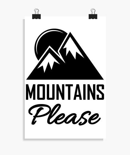 Poster montagnes s39il vous plaît...