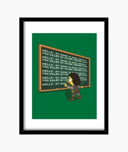 Montoya detention framed print