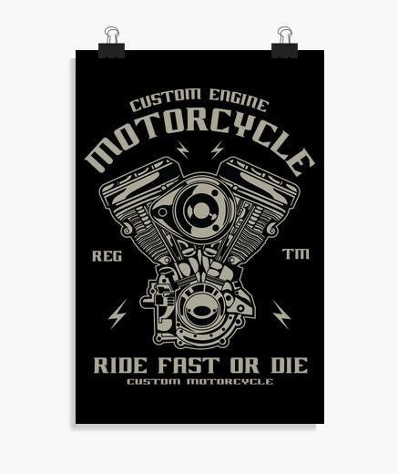 Poster motore personalizzato