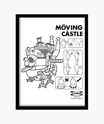 Cuadro moving castle