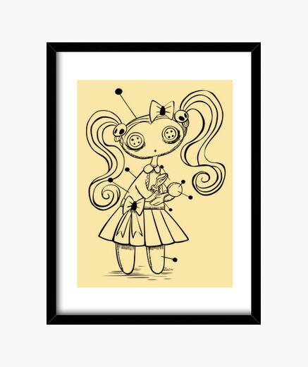 Muñeca vudú - Cuadro enmarcado