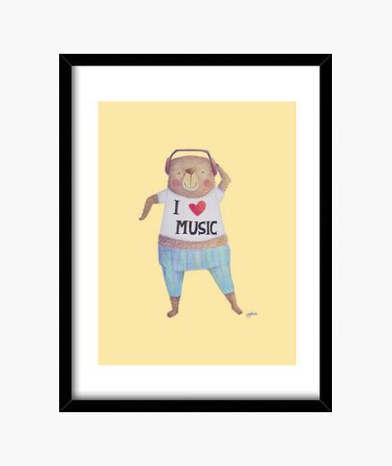 Cuadro Music Bear