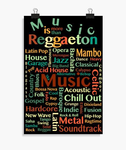 Póster Music is more than Reggaeton