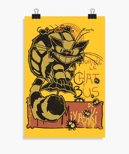 Poster nekobus le chat noir