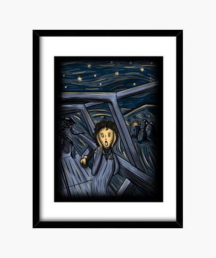 Quadro nello spazio non one can sentire you urlare