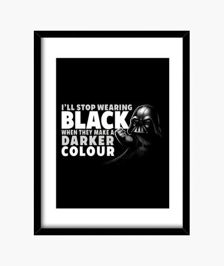 Quadro nero t-shirt di stampa