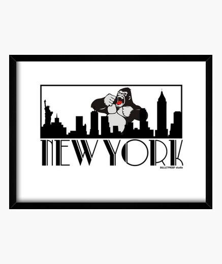 New yorilla framed print