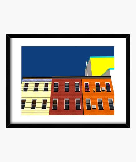 Quadro new york coloristi edifici