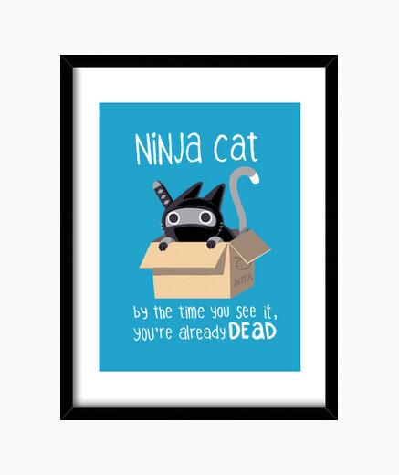 Cuadro Ninja cat print