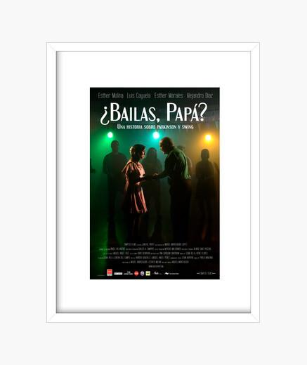 Official poster of dances dad framed print