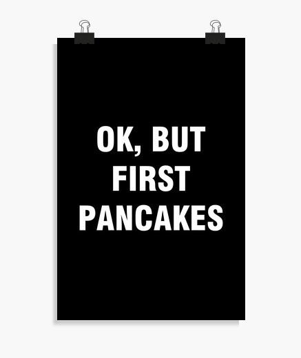 Poster ok aber erstmal pfannkuchen