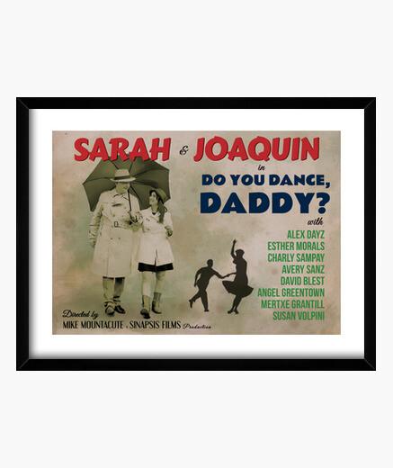 Old dance poster, dad framed print