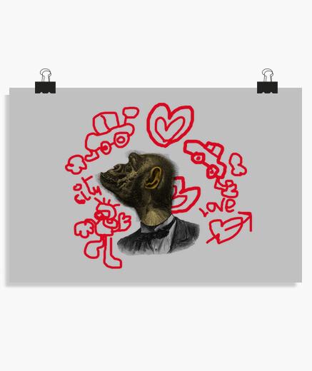 Orangutan love poster