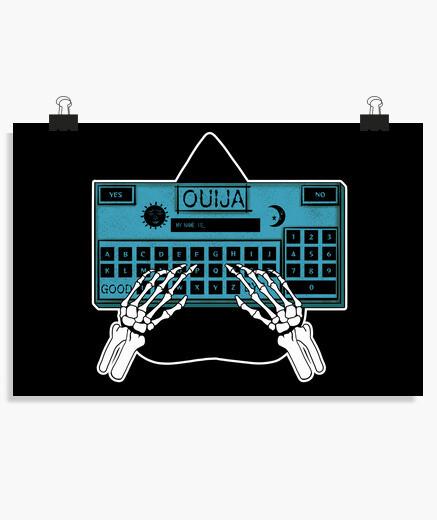 Póster Ouija board (azul)