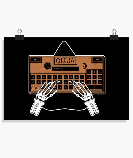 Ouija board (orange) poster