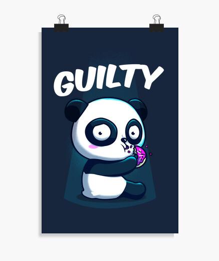 Póster Panda culpable