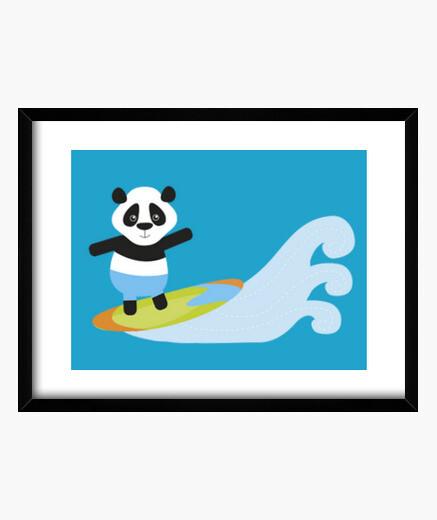 Cuadro panda de surf