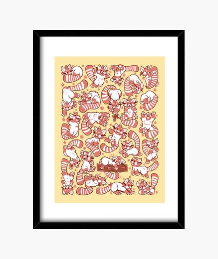Cuadro panda rojo impresiones de propagación