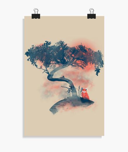 Poster Panda rouge