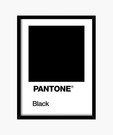 Cuadro Pantone Black