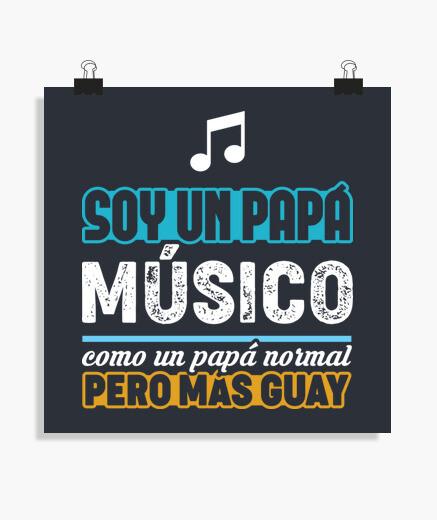 Poster papà musicista