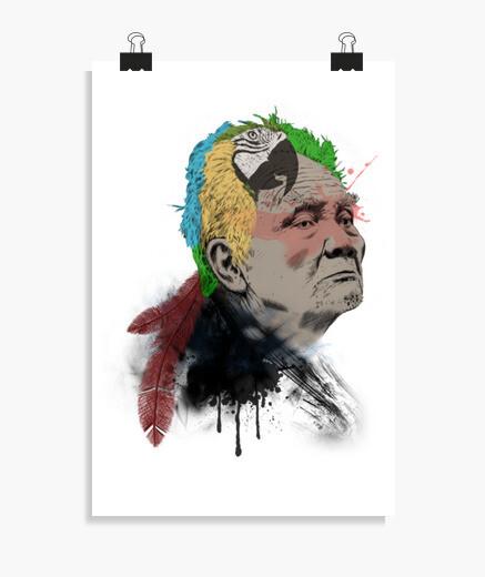Parrot man poster