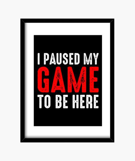 Cuadro pause mi juego para estar aqui