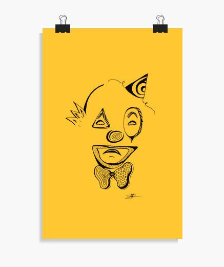Póster payaso triste - cartel