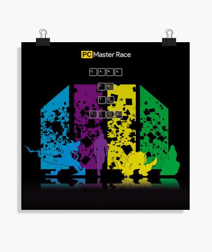 Poster pc master race 4 jeux historiques