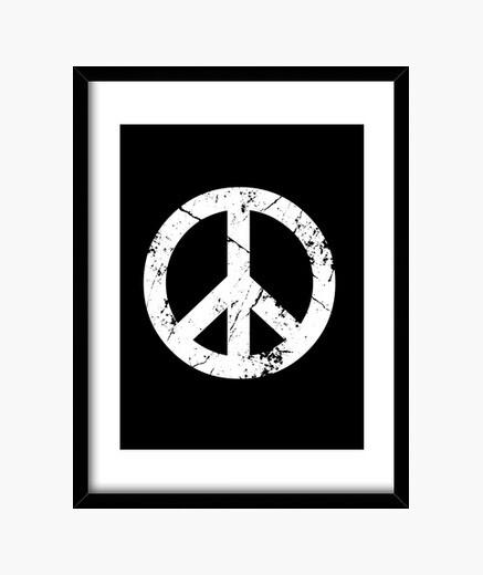 Peace grunge framed print