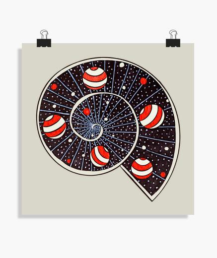 Poster pianeti a forma di palla da spiaggia a