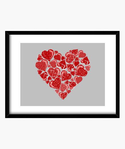 Cuadro Pieces of Heart :: Lienzo