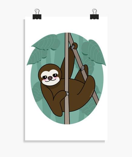Poster pigro kawaii
