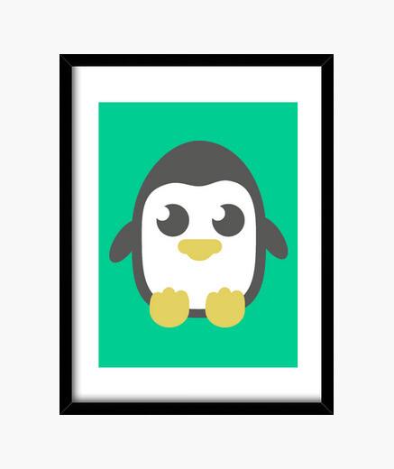 Quadro pinguino verticale dell'immagine