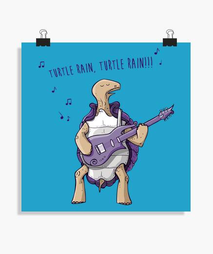Poster pioggia di tartaruga
