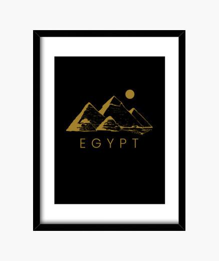 Cuadro pirámide de egipto jeroglíficos...