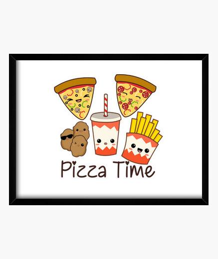 Cuadro Pizza Time