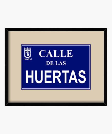 Cuadro Placa de la Calle de las Huertas