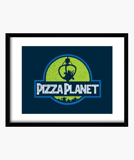 Cuadro planet pizza