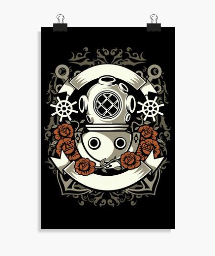 Poster plongeur