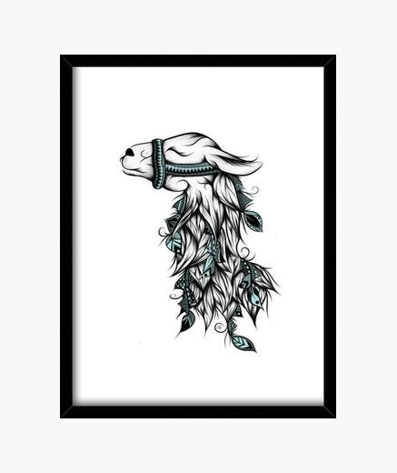 Cuadro Poetic Llama