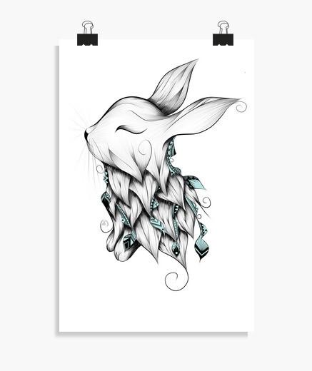 Poetic rabbit poster
