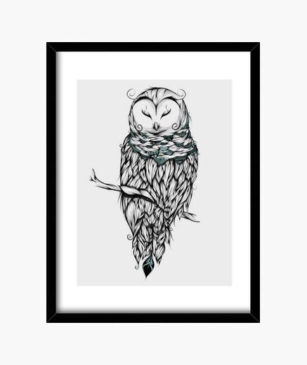 Cuadro Poetic Snow Owl