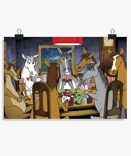 Póster póker de caballos