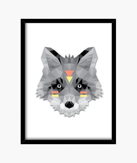 Cuadro Poly boho red fox