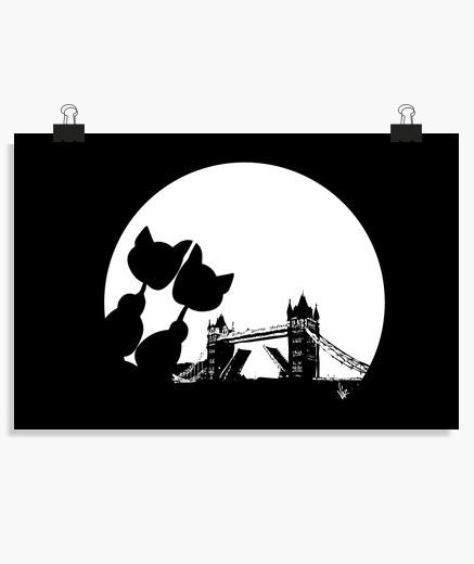 Poster pont de la lune love tour - blan